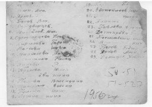 Список детей. 1950 год