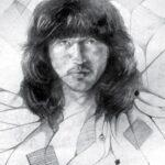 рисунки Цоя Виктора - Автопортрет